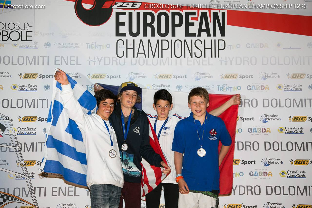 U15 Boys Podium at the 2014 T293 Europeans.