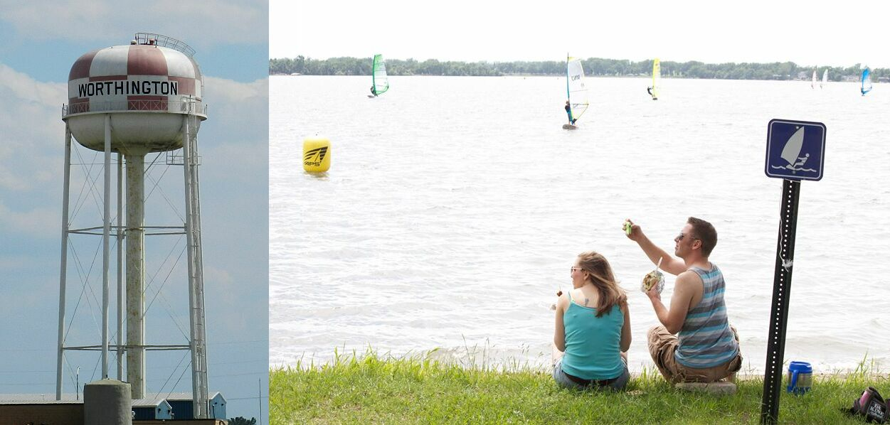 Enjoying the Action on Lake Okabena in Worthington (credit: Noah Keitel)