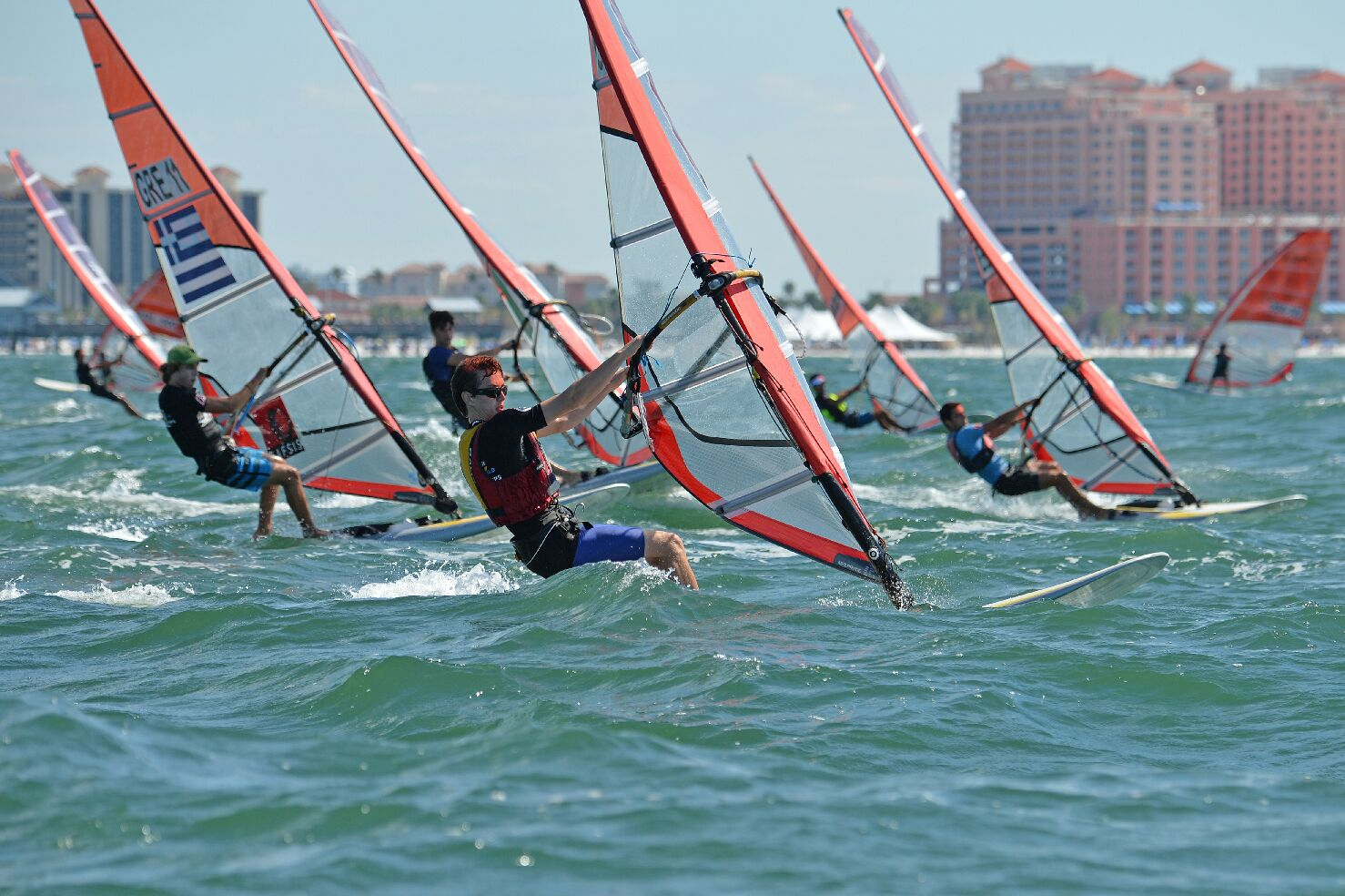 Racing close to the beach this week in Clearwater (credit: Jay Ailworth)